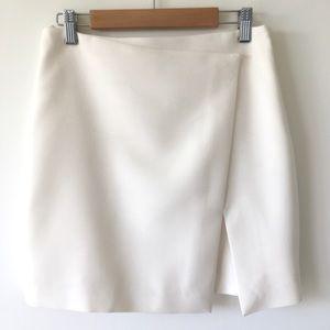 WHBM Asymmetrical Cream White Lined Skirt size 0